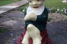 Concrete Garden Gnome Repainted
